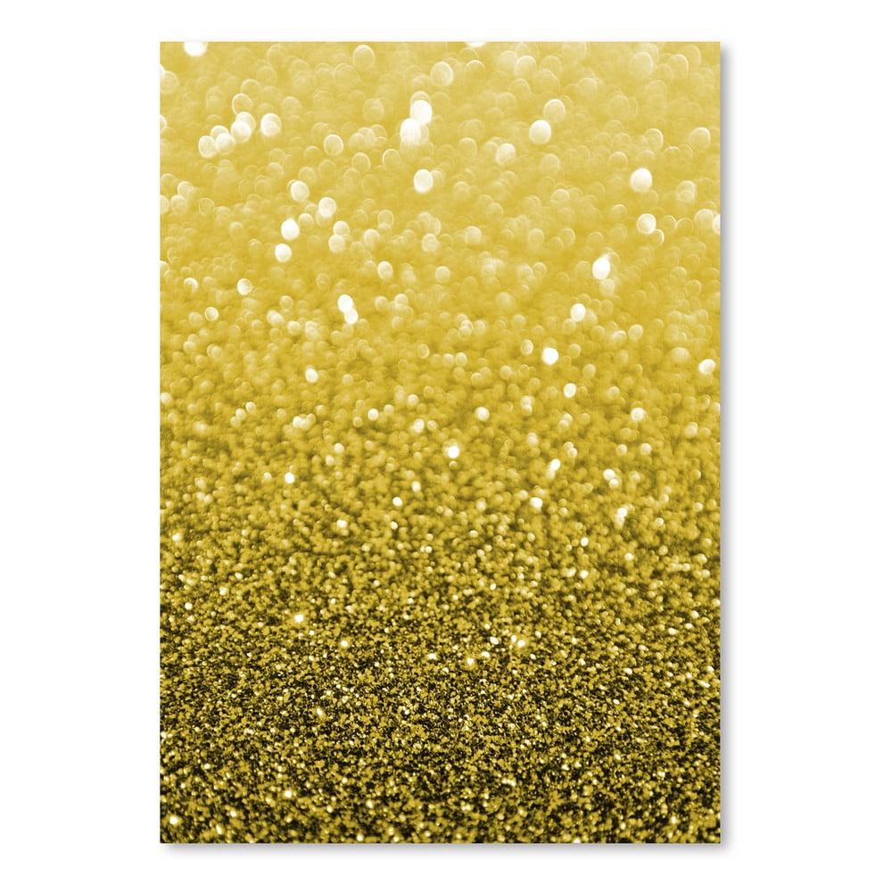 Plagát Americanflat Gold Shiny Texture, 30 × 42 cm