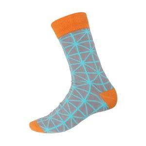 Ponožky Orange Ornament, veľkosť 40-44