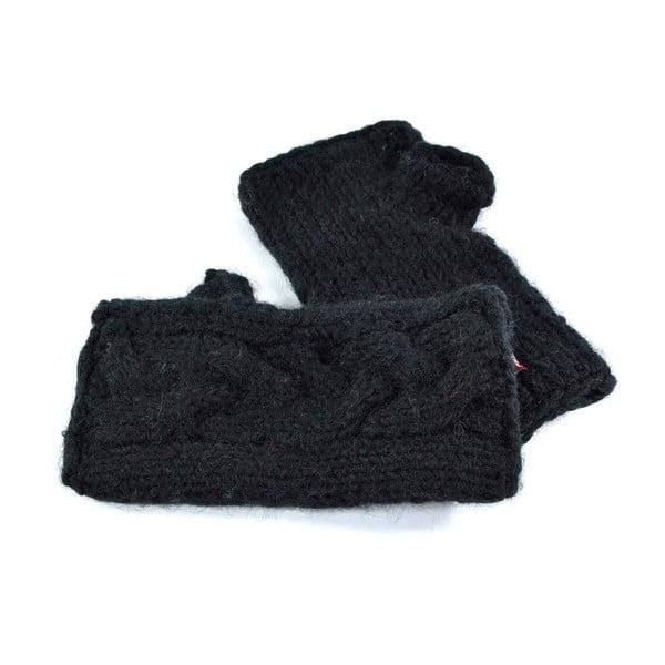 Vlnené návleky Čierne prepletané