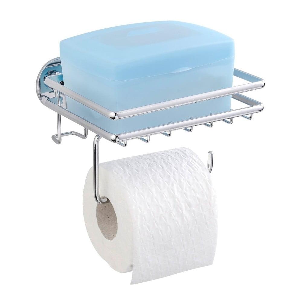 Samodržiaci stojan na toaletný papier s poličkou Wenko Express-Loc Cali