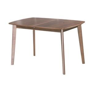 Rozkladací jedálenský stôl Teo, 120-150 cm, tmavý