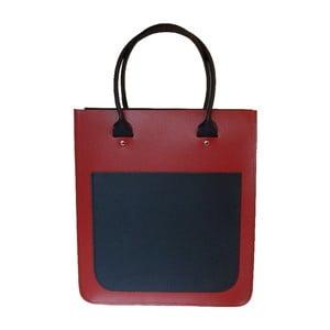 Kožená kabelka Two Tone Red/Navy