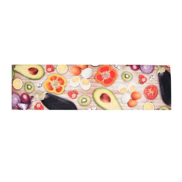 Vysokoodolný kuchynský koberec Food, 60x300 cm