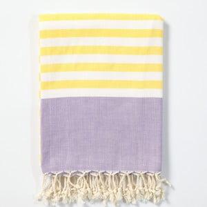 Hammam osuška z ručne tkanej bavlny ZFK Hanne, 170 x 100 cm