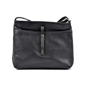 Čierna kožená kabelka Roberta M Lasmina