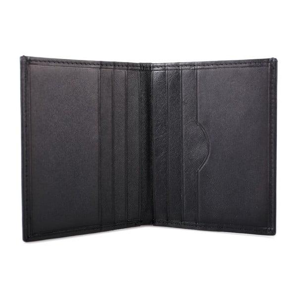 Kožená peňaženka Lois Black, 8x10 cm