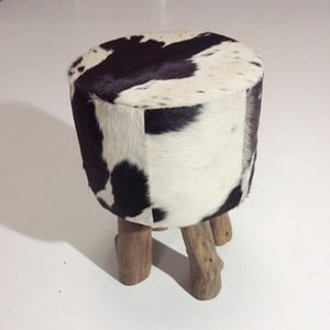 Taburetka Colo Hocker Black White