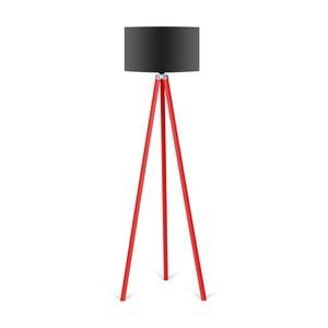 Stojacia lampa s čiernym tienidlom Kate Louise Redish