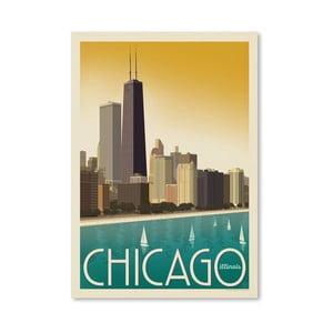 Plagát Americanflat Chicago Sky, 42 x 30 cm