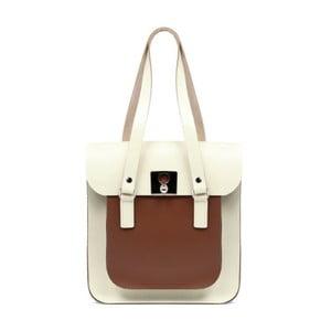Veľká krémová kožená kabelka Brix + Bailey Rosemont