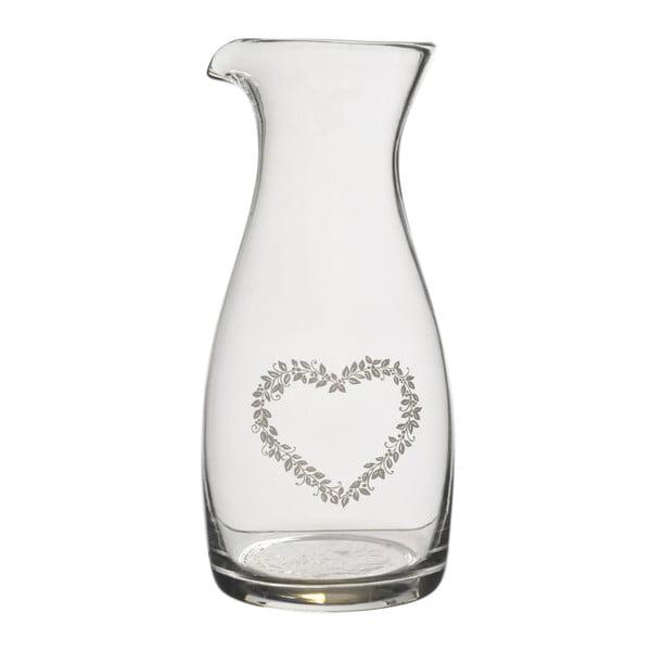 Sklenená karafa Heart