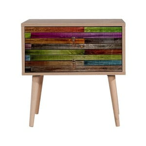Drevený nočný stolík Iris Rainbow