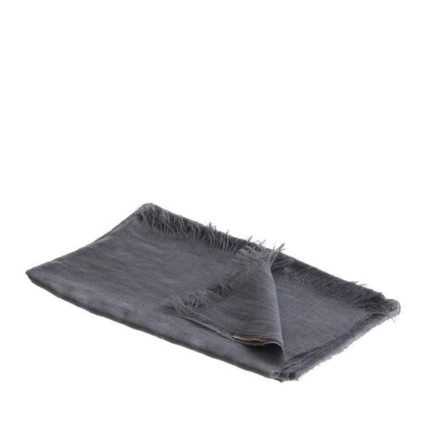 Ľanová šatka Luxor 65x200 cm, sivá