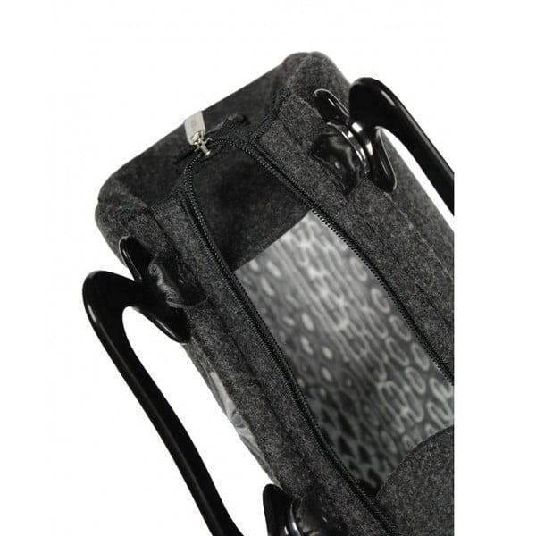Plstená vyšívaná kufríková kabelka Goshico Destiny