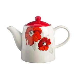 Čajová kanvička s motívom kvetín z kameniny Price&Kensington Posy, 1,2 l