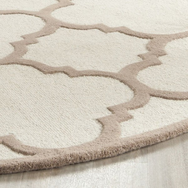 Vlnený koberec Clark Cream, 60x91 cm