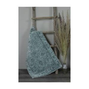 Zelená bavlnená kúpeľnová predložka My Home Plus Sensation, 61×102 cm