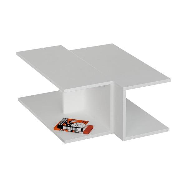 Kávový stolík Double, biely