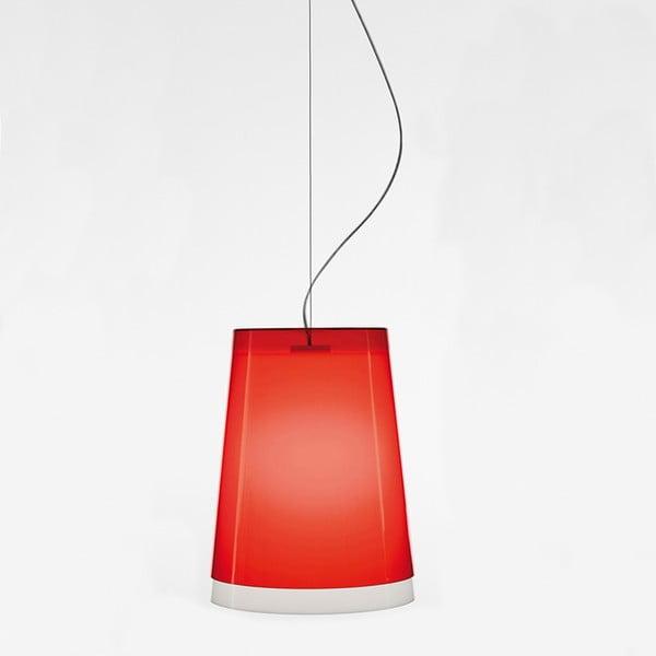 Červené závesné svietidlo Pedrali L001S/AA