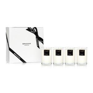 Darčeková sada 4 vonných sviečok s vôňou jazmínu Bahoma London, 35 hodín horenia