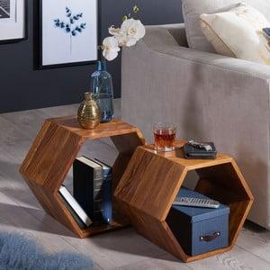 Sada 2 príručných stolíkov z masívneho palisandrového dreva Skyport Wohnling Kasa