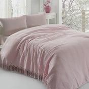 Ľahká bavlnená prikrývka cez posteľ Pique Powder, 220 x 240 cm