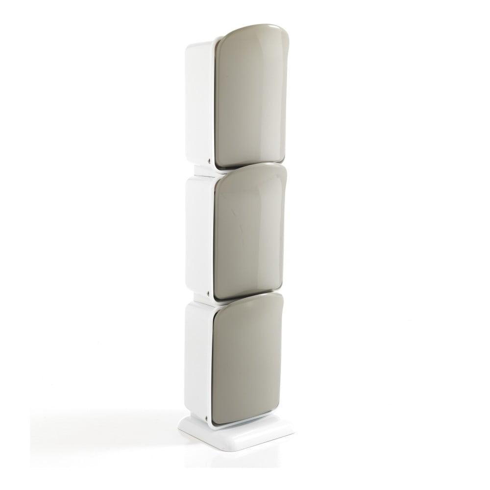Recyklačný kôš s 3 priehradkami Tomasucci Riky, výška 125 cm