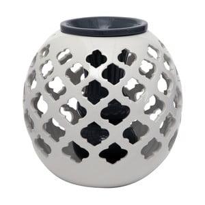 Čierno-biela guľatá keramická váza Mauro Ferretti, 23,5 cm