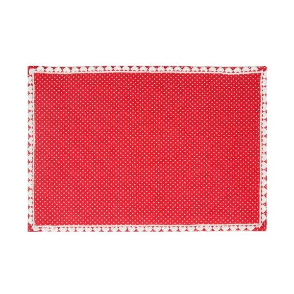 Prestieranie Basic Hearts 50x33 cm, červené
