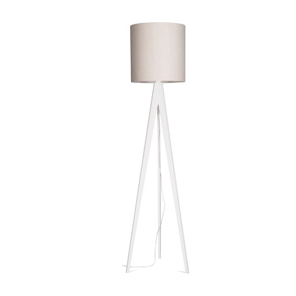 Stojacia lampa Artist Grey Linnen/White, 125x33 cm
