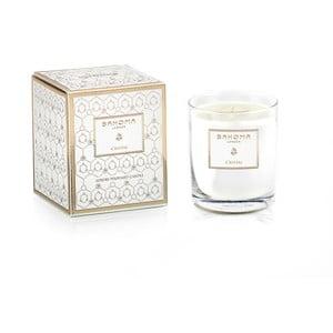Vonná sviečka v skle s vôňou yland yland a jazmínu Bahoma London Cristal, 75 hodín horenia