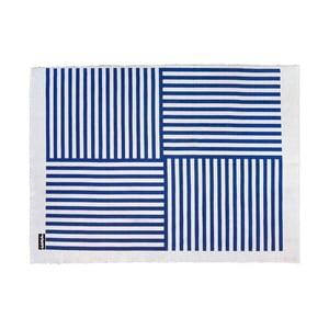 Koberec Lona Print 200x150 cm, modrý/biely