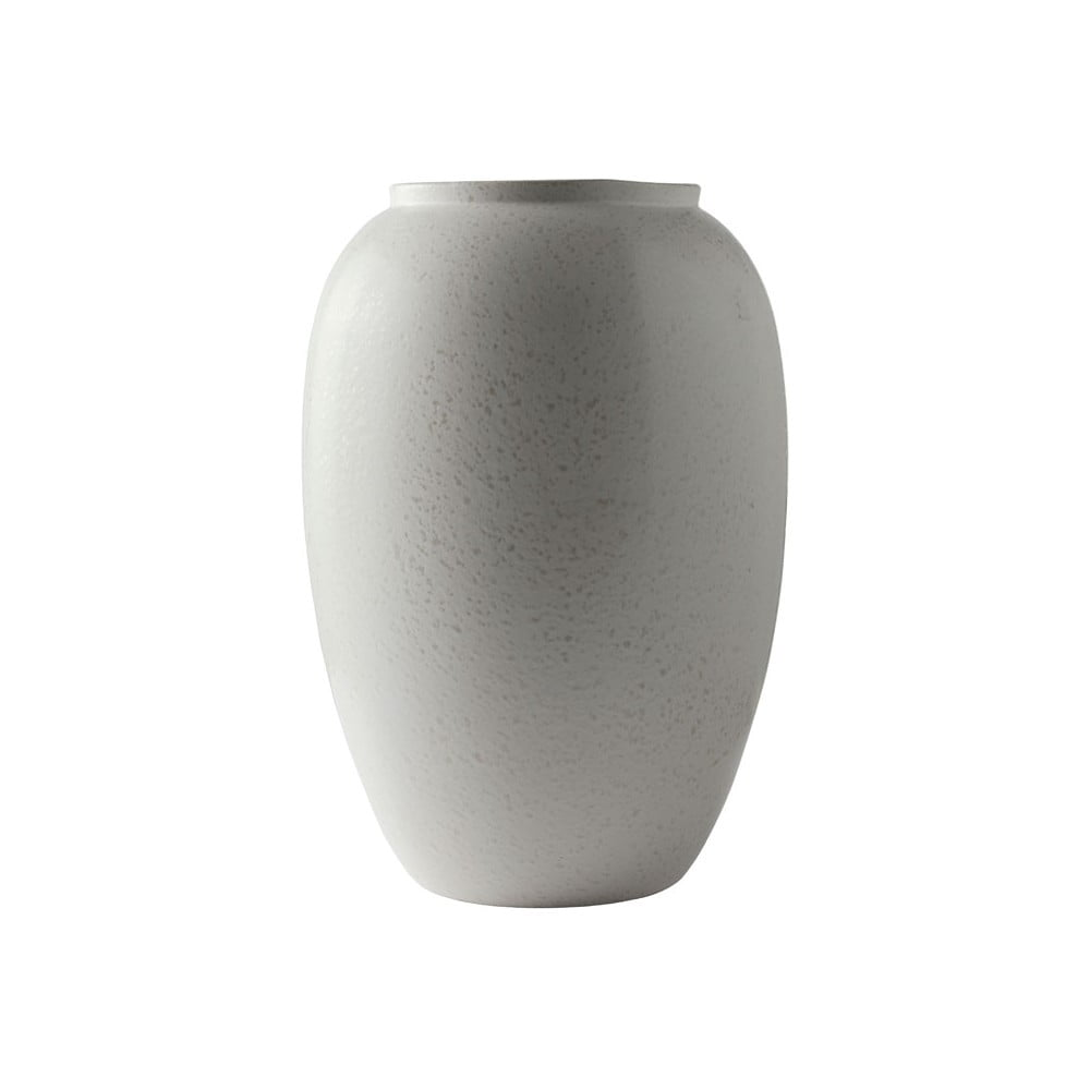 Krémovobiela kameninová váza Bitz Basics Matte Cream, výška 50 cm
