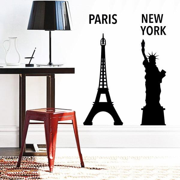 Dekoratívna samolepka NY a Pariž