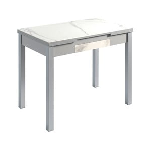 Biely rozkladací jedálenský stôl Pondecor Mesa, 60×100cm