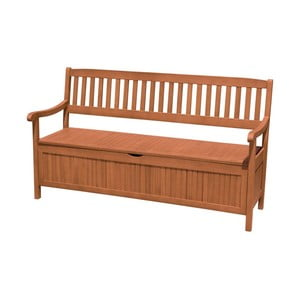 Záhradná lavica s úložným priestorom z eukalyptového dreva ADDU Houston, dĺžka 157 cm