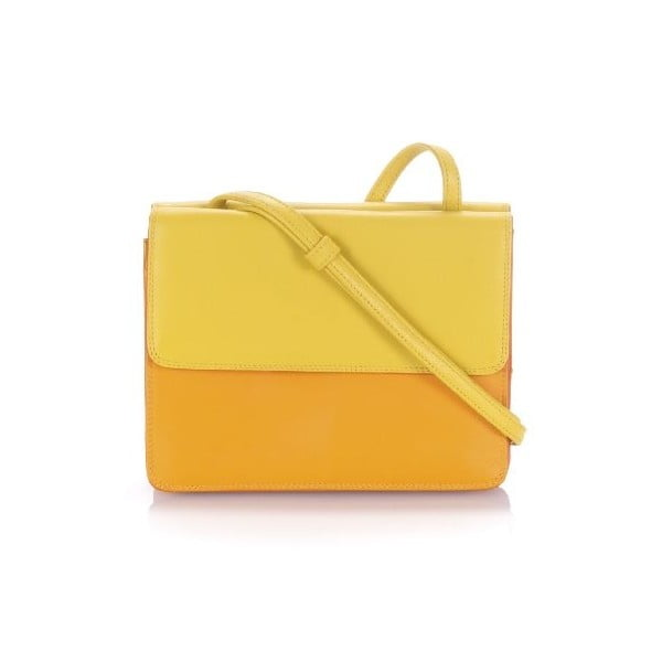 Kabelka Double Flap Yellow