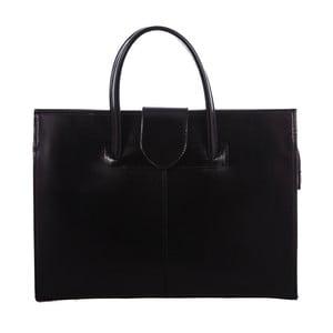 Čierna kožená taška Paola