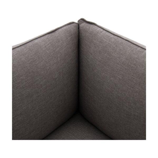 Sivá dvojmiestna pohovka s podnožkou Vivonita Cube