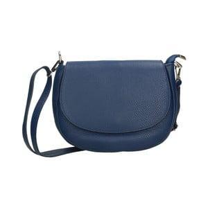 Modrá kožená kabelka Chicca Borse Rosso