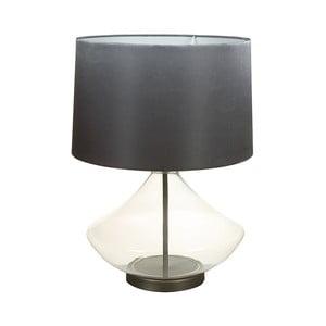 Čierna stolová lampa s krištáľovou základňou Santiago Pons Legans