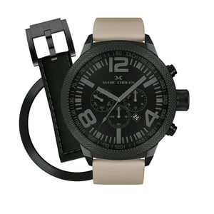 Pánske hodinky Marc Coblen s remienkom a krúžkom na ciferník naviac P60
