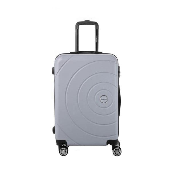 Sivý cestovný kufor Berenice Circle, 71 l