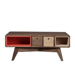 Obdĺžnikový konferenčný stolík zmasívneho mangového dreva Woodjam Play Dark