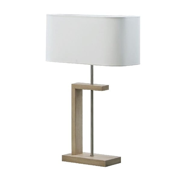 Stolová lampa Nateza, hnedá