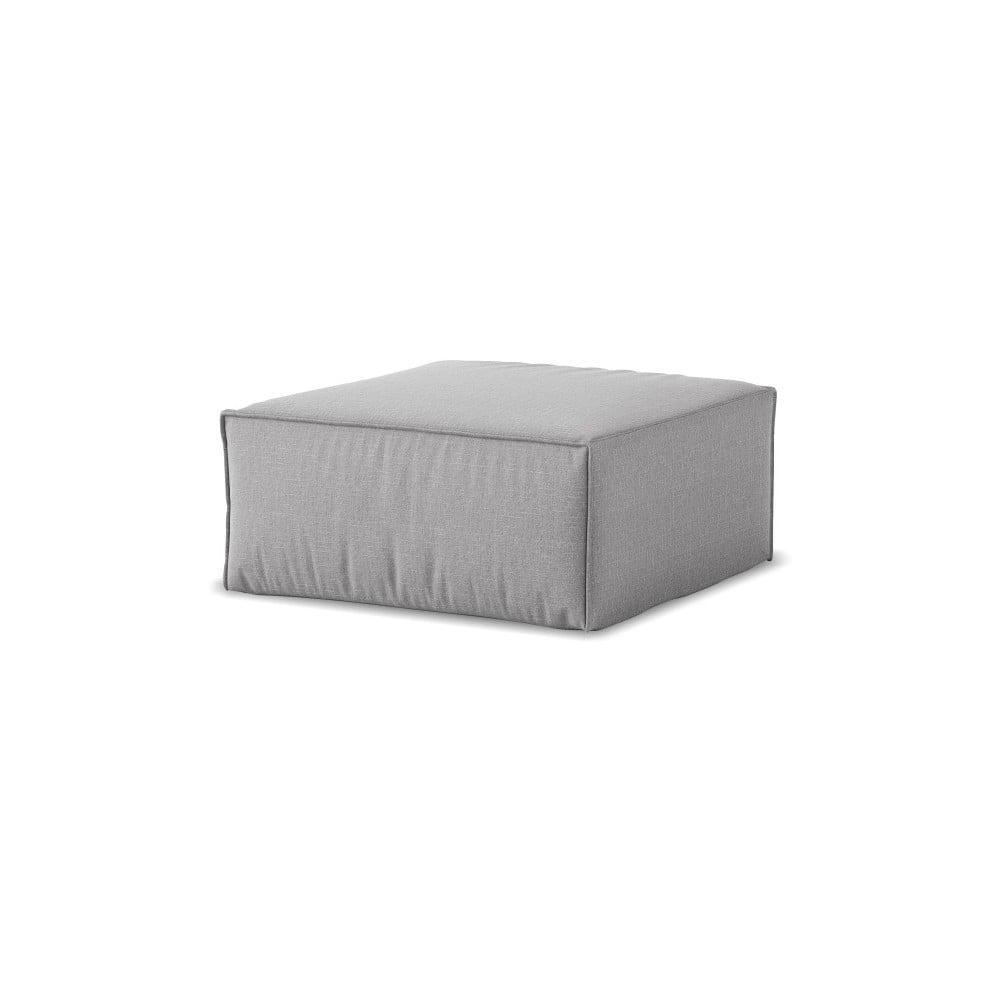 Sivý puf Cosmopolitan Design Miami, 65 × 65 cm