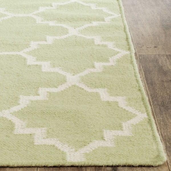 Vlnený koberec Darien Lime, 76x182 cm