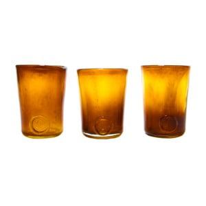 Set troch pohárov, medové