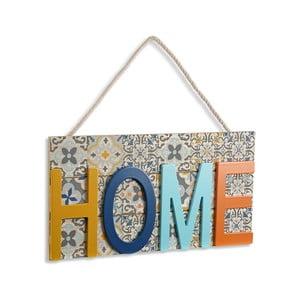 Závesná dekorácia z dreva VERSA Home Colorful, 38×20cm
