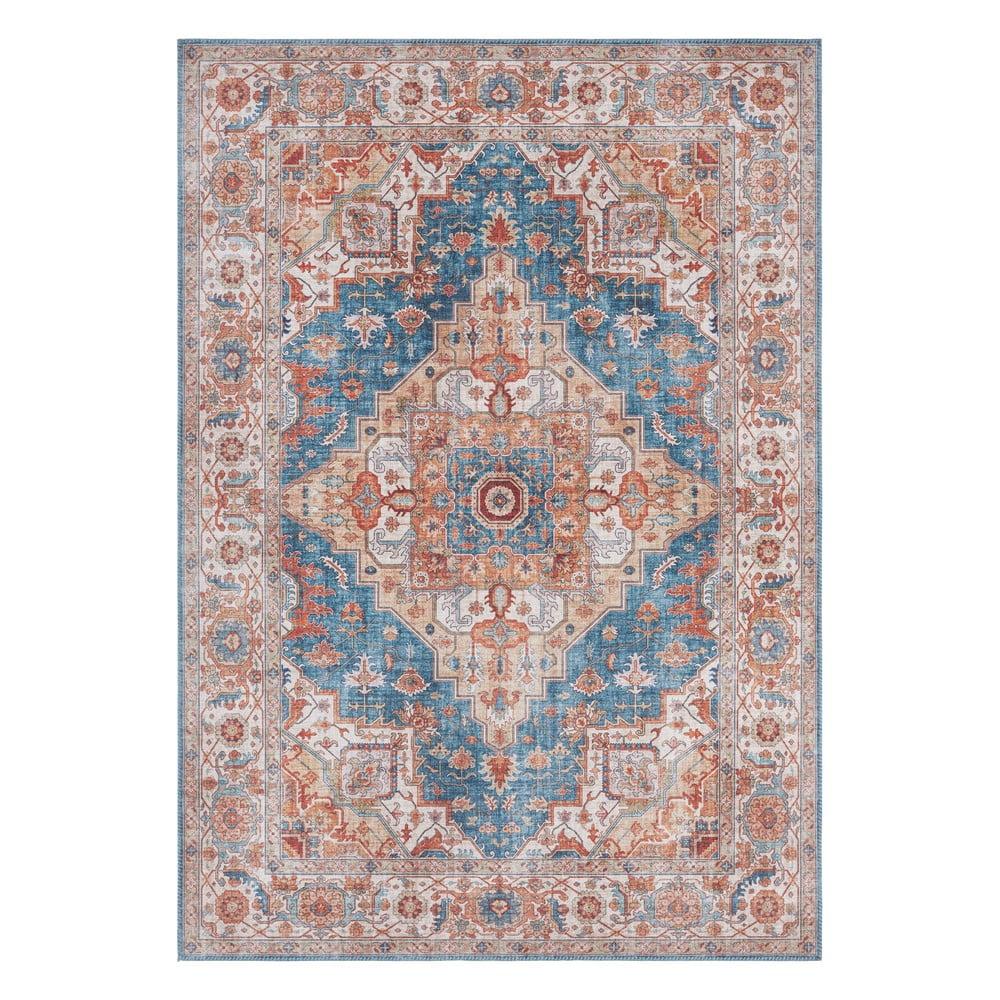 Modro-červený koberec Nouristan Sylla, 120 x 160 cm